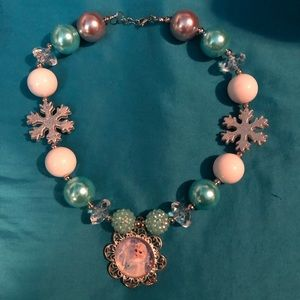 Chunky bubble Frozen Elsa necklace